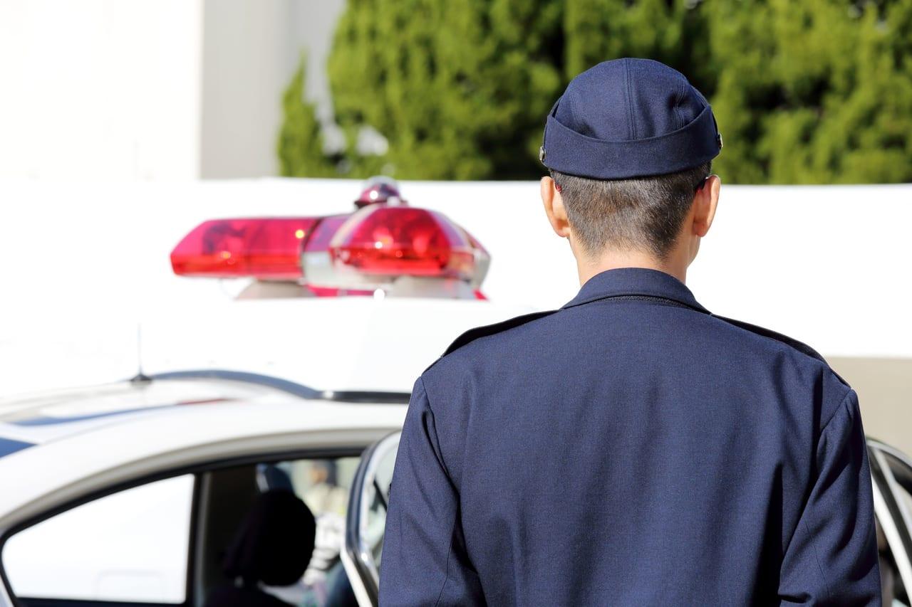 警察官がコロナ
